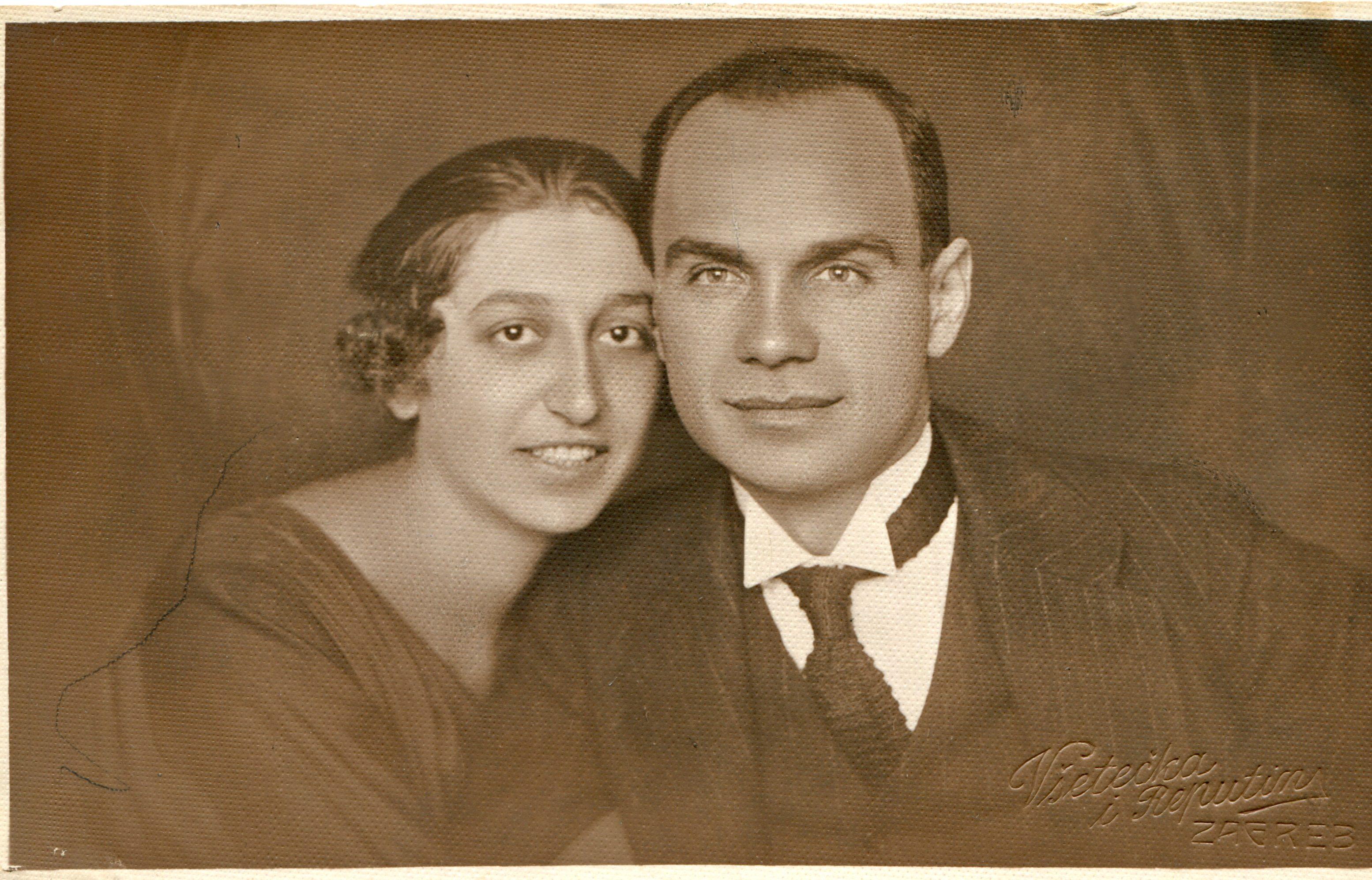Marcel Kolin sa suprugom Jelenom (1925) - obiteljski album Branka Matana