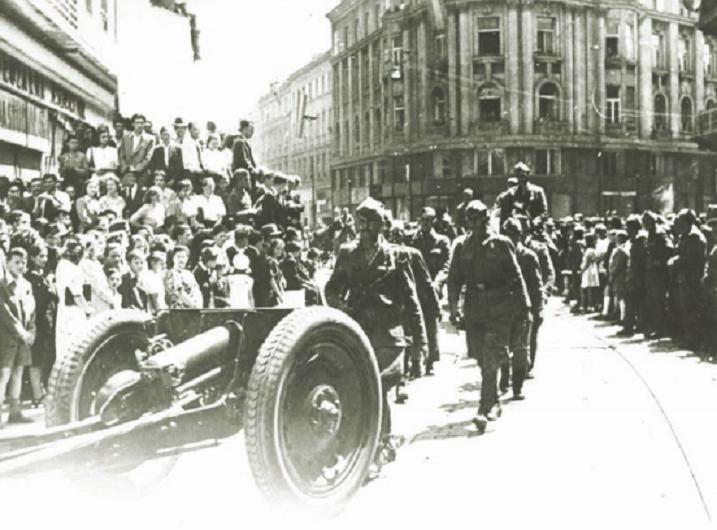 Jedinice Druge armije ulaze u Zagreb, u svibnju 1945. godine