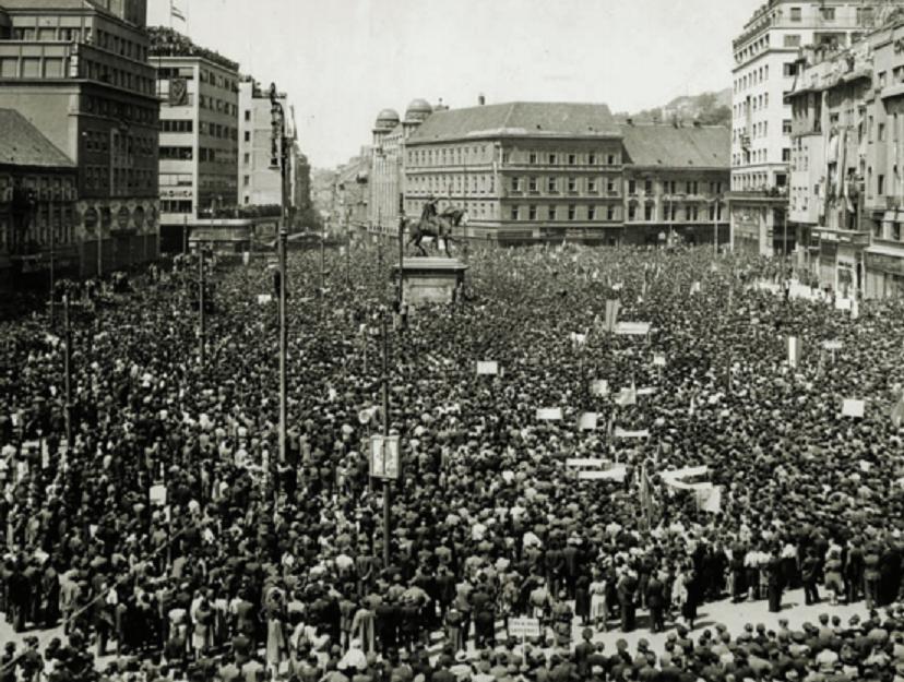 Miting oslobođenja grada i zemlje, Zagreb, 11. svibnja 1945. godine