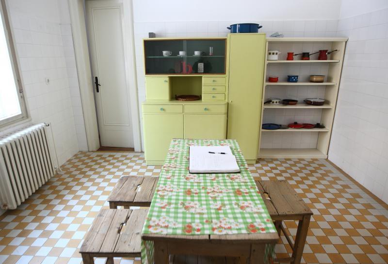 Kuhinja u Vili Rein, u ulici Gvozd 23 gdje su od 1952. živjeli Krleža i supruga Bela