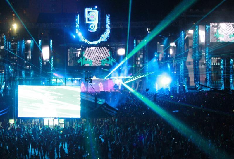 Stadion Poljud, drugi dan Ultra Europe festivala na kojem su se okupili partijaneri sa svih strana svijeta.
