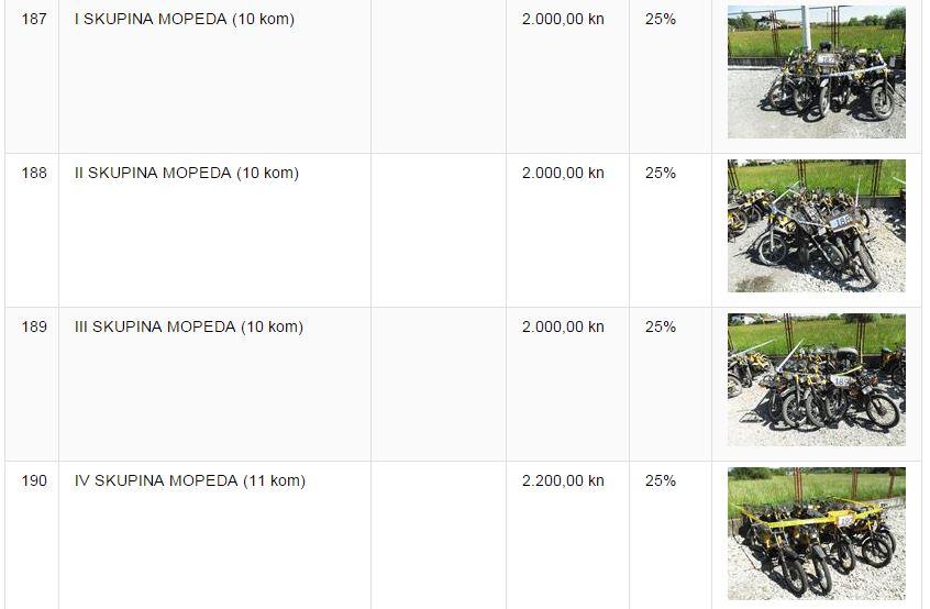Mopedi u ponudi