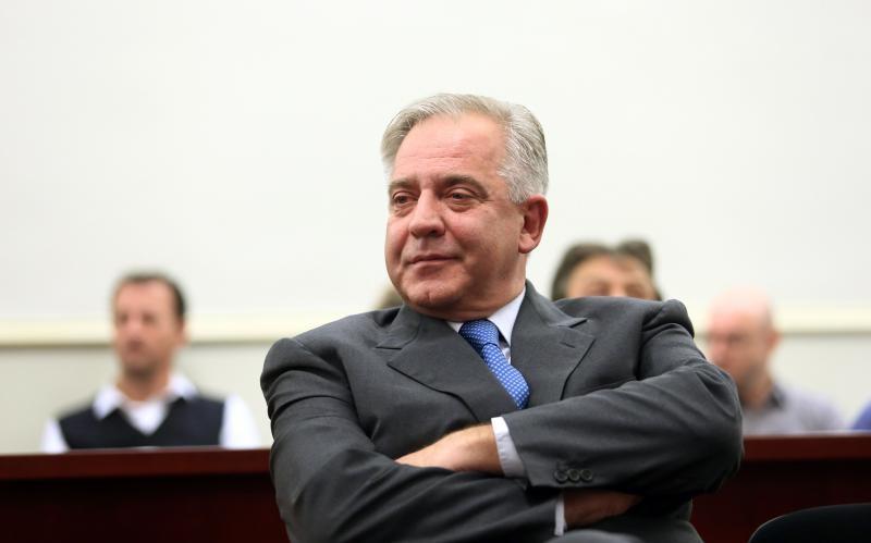 20.11.2012., Zupanijski sud, Zagreb - Ivo Sanader na izricanju nepravomocne presude u predmetima Hypo i INA-MOL. Photo: Zeljko Lukunic/PIXSELL