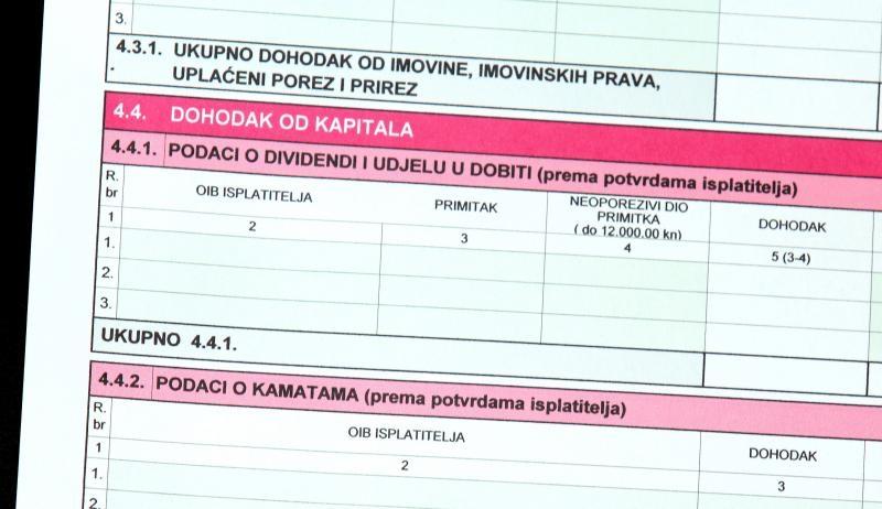 09.02.2015., Sibenik - U cijeloj Hrvatskoj pocelo je podnosenje poreznih prijava na dohodak za 2014. godinu. Photo: Dusko Jaramaz/PIXSELL