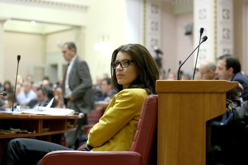 25.09.2015., Zagreb - Na zadnjoj sjednici Sabora u ovom sazivu i Josipa Rimac je glasovala za skidanje svog imuniteta. Photo: