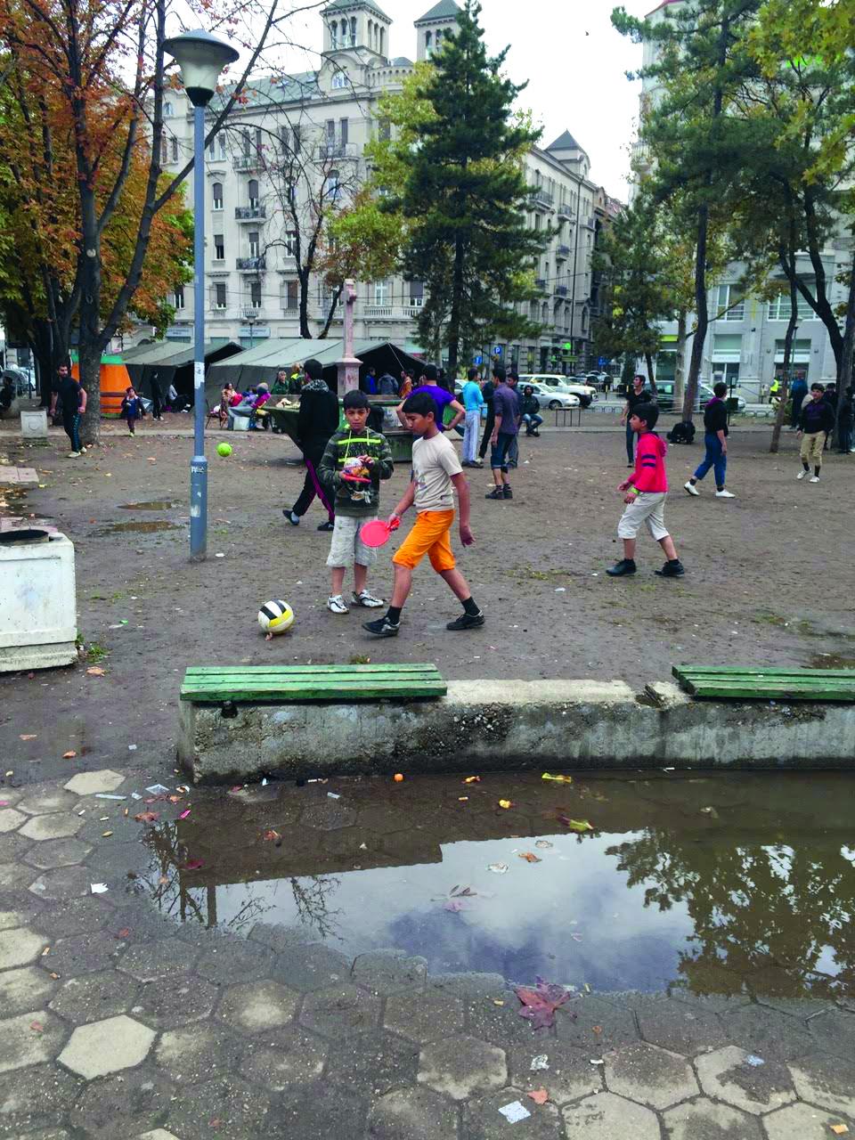 Informativni punkt u beogradskom parku koji je postavio B92