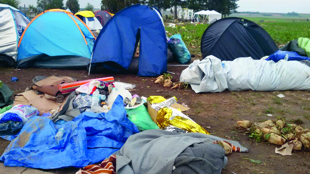 Privremeni kampovi na izbjegličkom putu