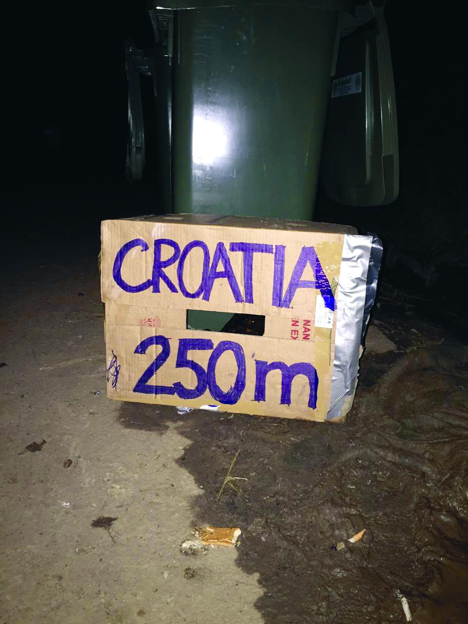 Oznaka pred hrvatsku granicu