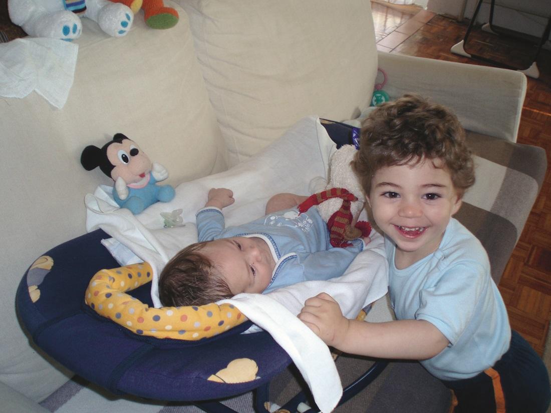 Brat Maks rođen je kad su Janu bile dvije godine