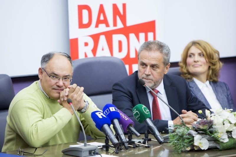 Damir Kajin s Milanom Bandićem na presici uoči izbora