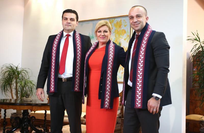 Dragan Vulin i Josip Salapić kod predsjednice Kolinde Grabar-Kitarović