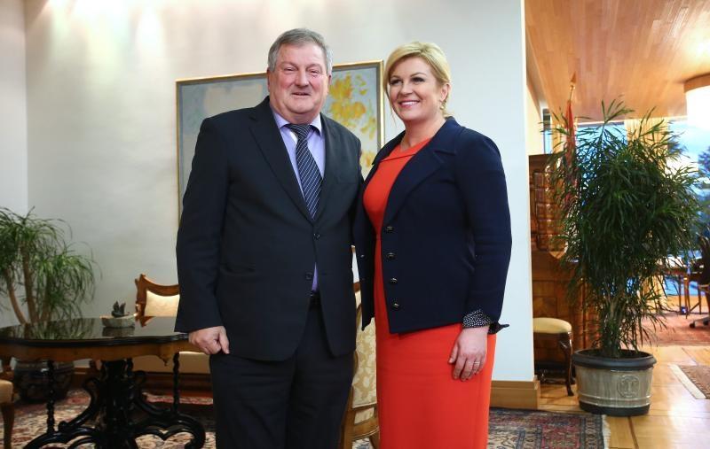 Mirko Rašković i predsjednica Kolinda Grabar-Kitarović