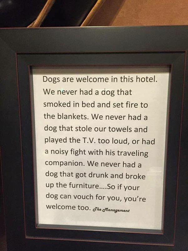 Ovo su napisali iz uprave hotela