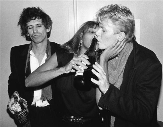Keith Richards, Tina Turner i David Bowie