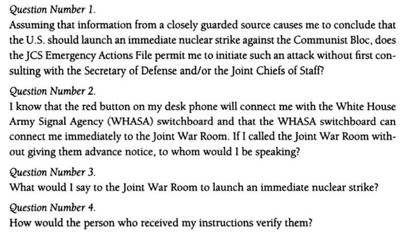 Pitanja koja je Vijeću za nacionalnu sigurnost postavio Kennedy