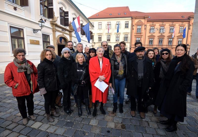 Kulturnjaci su ranije prosvjedovali protiv ministra Hasanbegovića