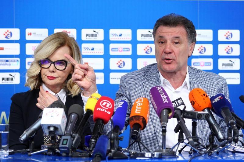 Jadranka Sloković i Zdravko Mamić na presici