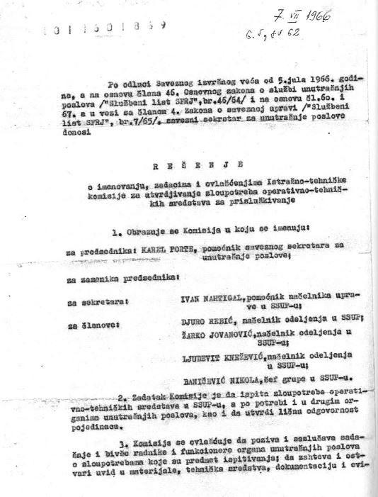 Ivan Mišković bio je na čelu komisije za aferu Ranković