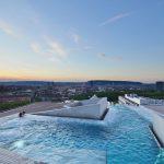 thermalbath zurich - roof bath view over zurich