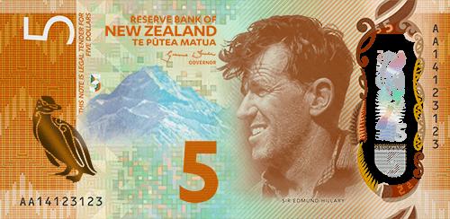 Novozelandskih 5 dolara, Sir Edmund hillary
