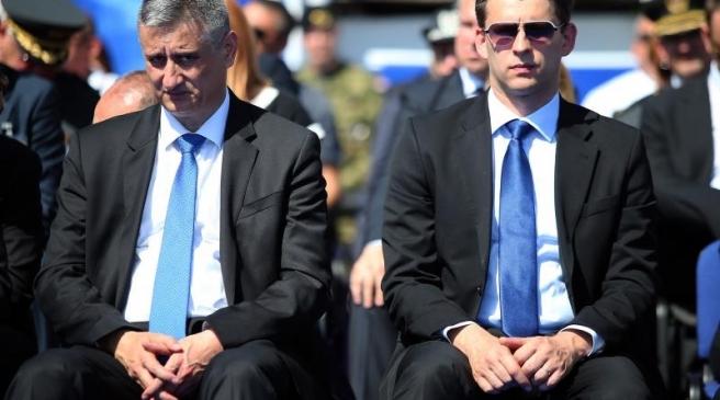 Tomislav Karamarko i Božo Petrov na proslavi Oružanih snaga