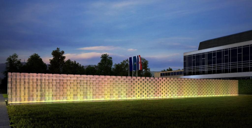 Nenad Fabijanić, Spomenik domovini – Zid svjetlosti, 2016.