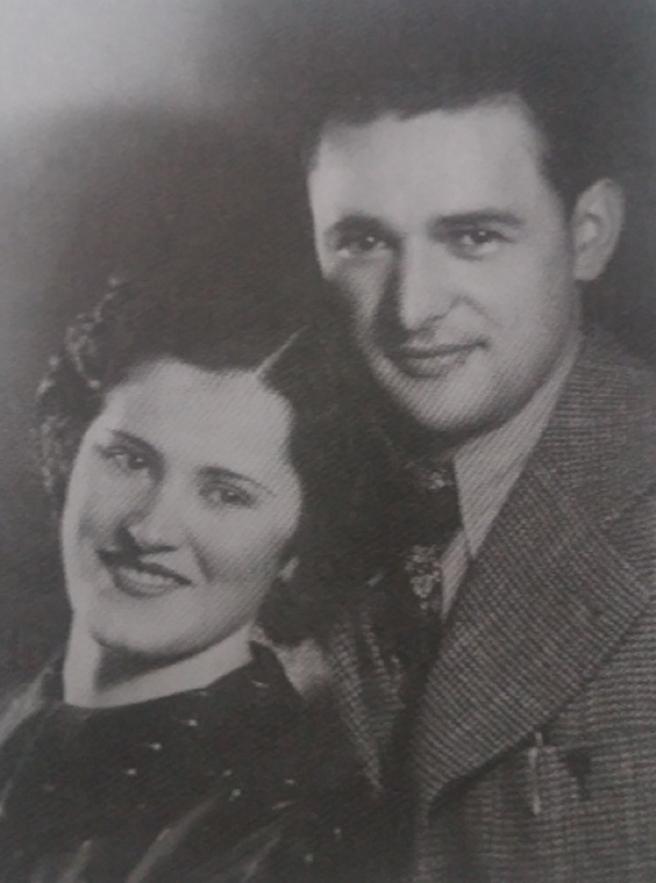 Mladi bračni par Elizabeta i Grigor Vitez 1938. godine