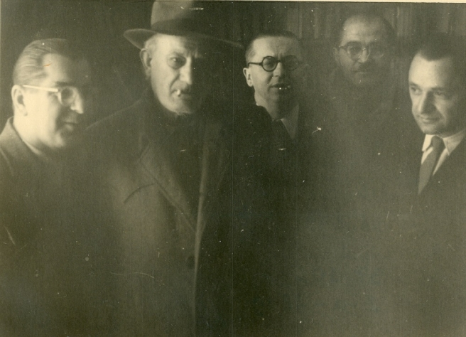 Oto Šold, Tin Ujević, Drago Ivanišević i Grigor Vitez