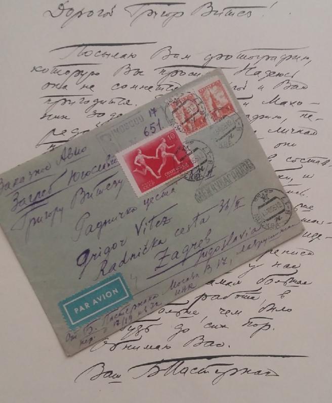 Jedno od pisama koje je Grigoru Vitezu slao Boris Pasternak