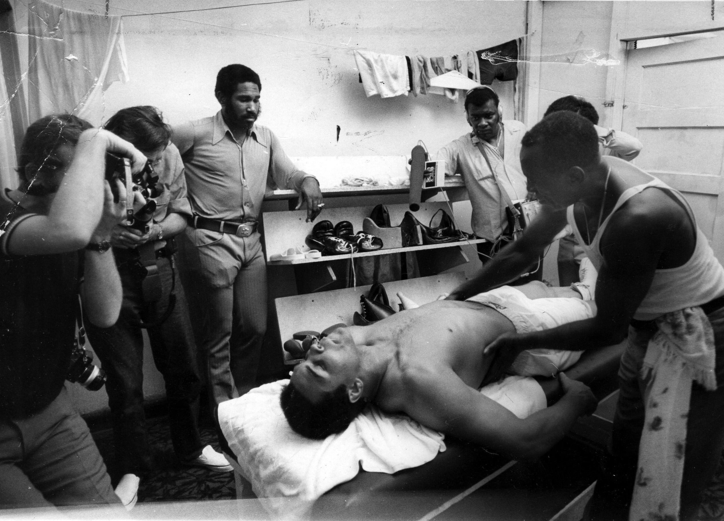 Feb. 25, 1971 - Florida, U.S. - February 25, 1971: Muhammad Ali gets a rub down by Luis Sarria after working out in Miami Beach's 5th Street gym., Image: 256440932, License: Rights-managed, Restrictions: * Florida Sun Sentinel Rights OUT *, Model Release: no, Credit line: Profimedia, Zuma Press - News