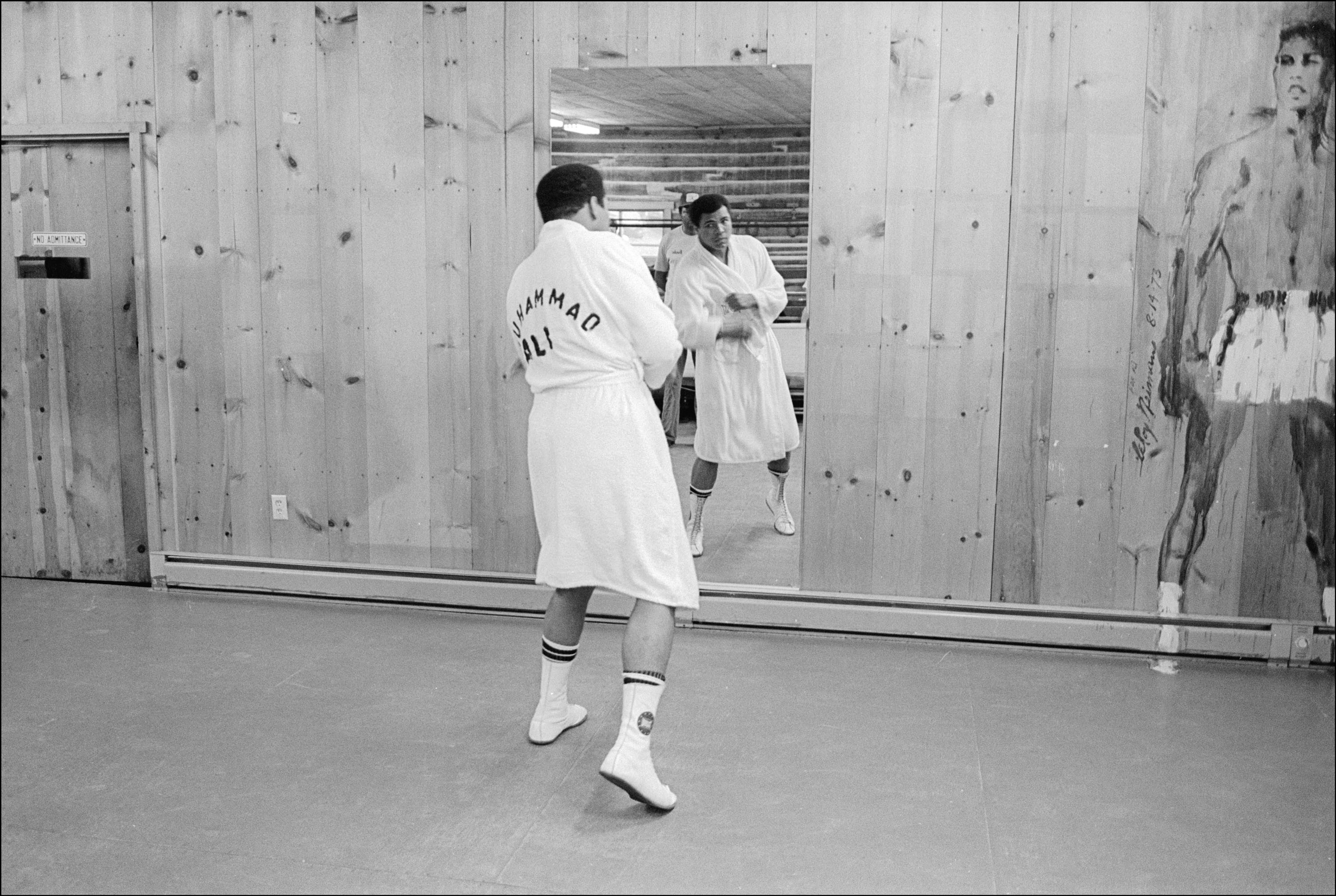 September 22, 1977 - Deer Park, Pennsylvania, United States: Muhammad Ali shadow boxes at his Deer Lake, PA, training camp. Ali went on to defeat Earnie Shavers in a fifteen round unanimous decision on September 29 and retained the Ring, WBC & WBA World Heavyweight titles., Image: 288876178, License: Rights-managed, Restrictions: , Model Release: no, Credit line: Profimedia, Polaris