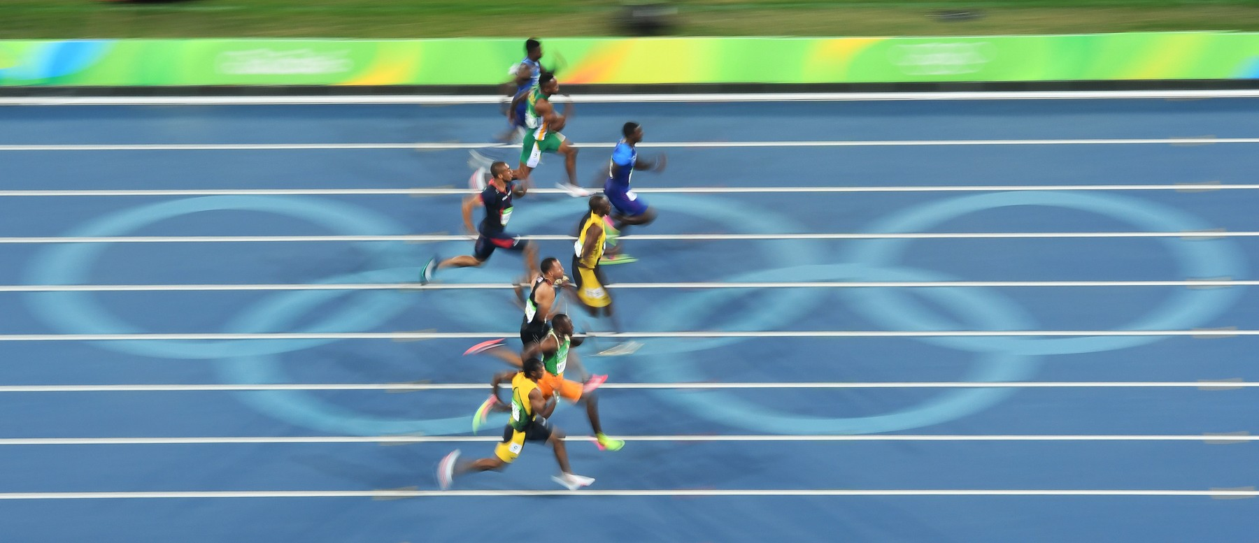 Bolt wins third 100 M gold