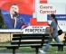 """This photo taken on September 24, 2016 shows a billboard featuring the leader of the Party of Independent Social Democrats Milorad Dodik reading """"Get out on Referendum Day 25.09.2016"""" and """"The Power of Srpska"""", prior to a referendum vote on January 9 becoming a national holiday, in the western Bosnian town of Banja Luka.  Citizens of Bosnia and Herzegovina's Serb-dominated entity of Republika Srpska will vote on the referendum question """"Should January 9 become a national holiday?"""" The referendum remains scheduled for September 25, even after it was disputed by the Peace Implementation Committee in Bosnia and banned by country's Constitutional Court, ramping up tensions in the fragile country. The date is controversial as it marks the proclamation of a """"Republic of Serb people"""" in Bosnia three months before the inter-ethnic 1992-1995 war that claimed 100,000 lives. / AFP PHOTO / ELVIS BARUKCIC"""