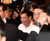 Philippines' President Rodrigo Duterte (C) leaves after meeting with his supporters at a hotel in Tokyo on October 25, 2016. Duterte is here on a three day visit. / AFP PHOTO / TOSHIFUMI KITAMURA