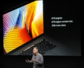 CUPERTINO, CA - OCTOBER 27: Apple Senior Vice President of Worldwide Marketing Phil Schiller introduces the all-new MacBook Pro during a product launch event on October 27, 2016 in Cupertino, California. Apple Inc. is expected to unveil the latest iterations of its MacBook line of laptops   Stephen Lam/Getty Images/AFP