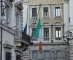 Italian flag at half mast during 126th Council of Ministers at Palazzo Chigi, Rome on August 25, 2016 (Photo by Silvia Lore/NurPhoto)