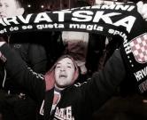 22.03.2013., Zagreb - Brojni navijaci prate nogometnu utakmicu izmedju Hrvatske i Srbije. Slavlje navijaca nakon utakmice. Photo: Goran Jakus/PIXSELL