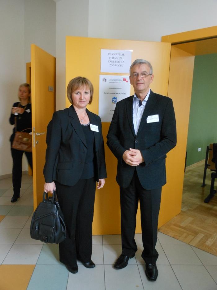 Ravnateljica Vesna Vrbošić s bivšim ravnateljem Stjepanom Sokolom