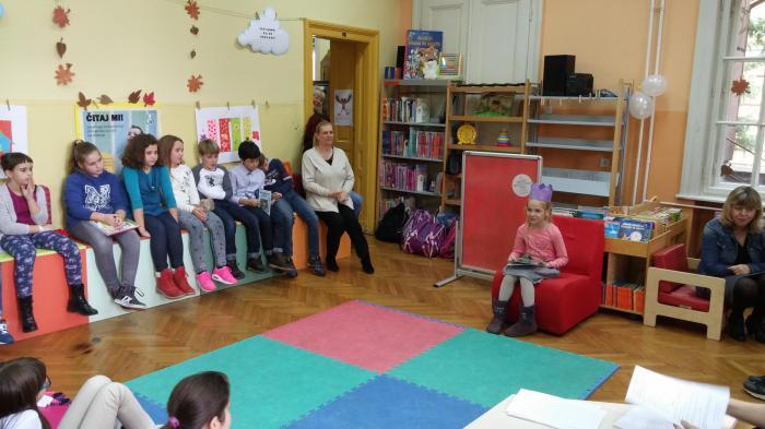 Učenici OŠ , sat čitanja naglas
