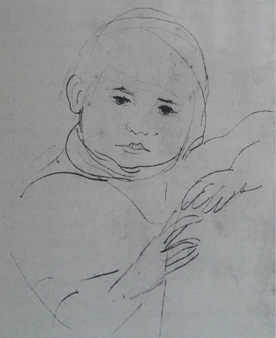 Portret Cvijete iz 1927.