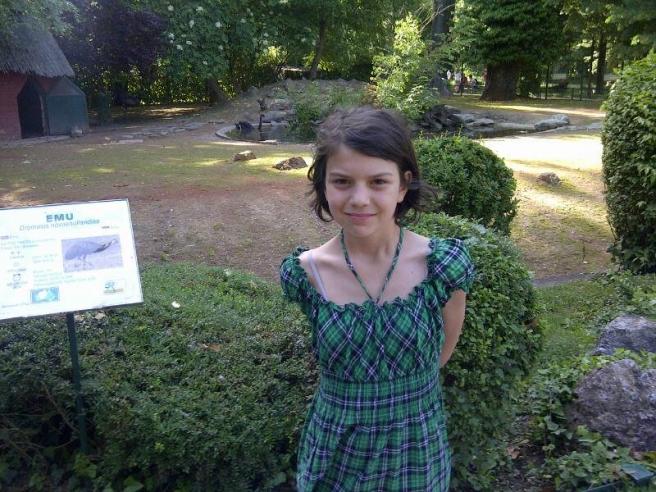 Matea Maslak snimljena u Metkoviću kada je imala osam godina