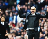 "Manchester City manager Pep Guardiola (right) and Chelsea manager Antonio Conte (left) gesture on the touchline during the Premier League match at the Etihad Stadium, Manchester., Image: 307413252, License: Rights-managed, Restrictions: WCDIRECT EDITORIAL USE ONLY No use with unauthorised audio, video, data, fixture lists, club/league logos or ""live"" services. Online in-match use limited to 75 images, no video emulation. No use in betting, games or single club/league/player publications., Model Release: no, Credit line: Profimedia, Press Association"