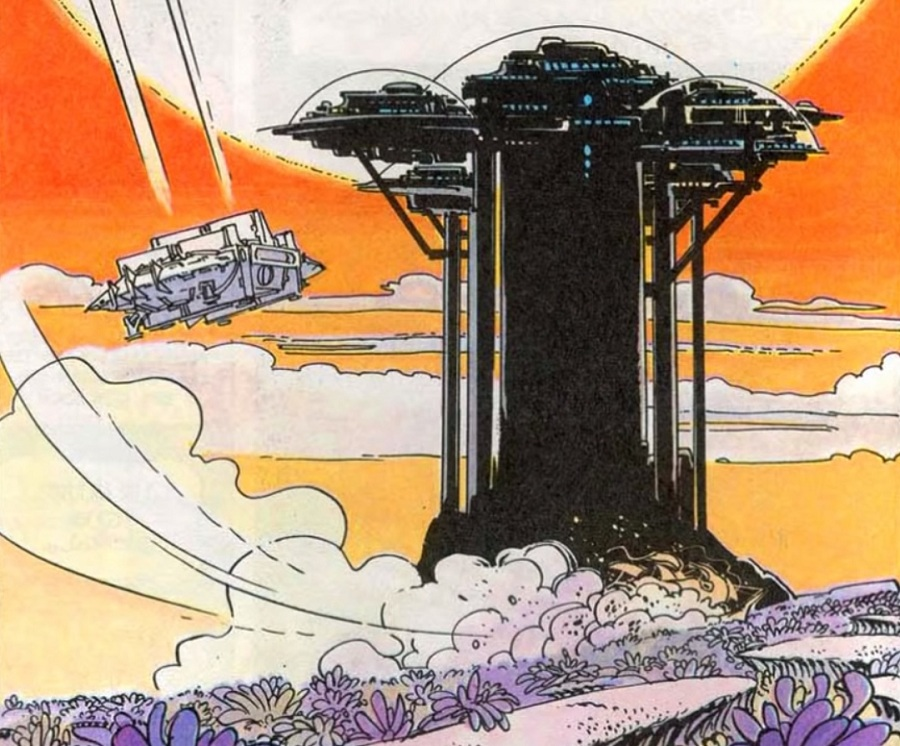 Grad u oblacima, strip Valerian