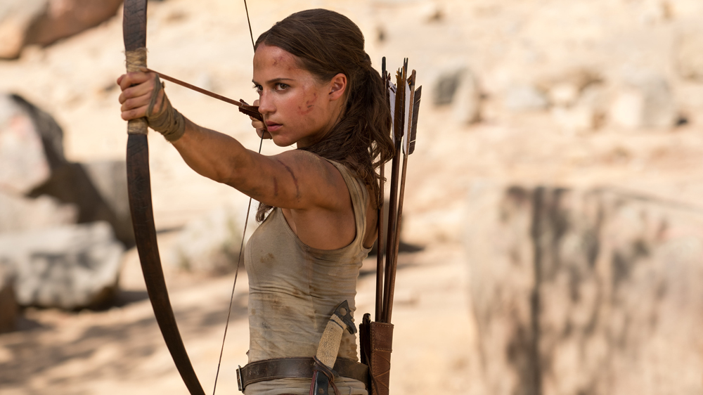 "Image result for Alicia Vikander shines on the red carpet of ""Tomb Raider"""