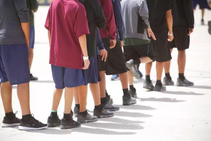 Djeca u centru Casa Padre u teksaškom gradu Brownsvilleu. Casa Padre je najveće državno sklonište za djecu migrante.