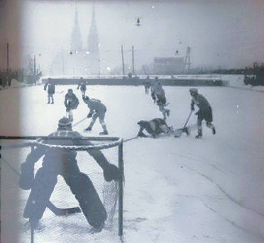 Hokejaška utakmica između Mladosti i Ljubljane, Šalata 1950. godine
