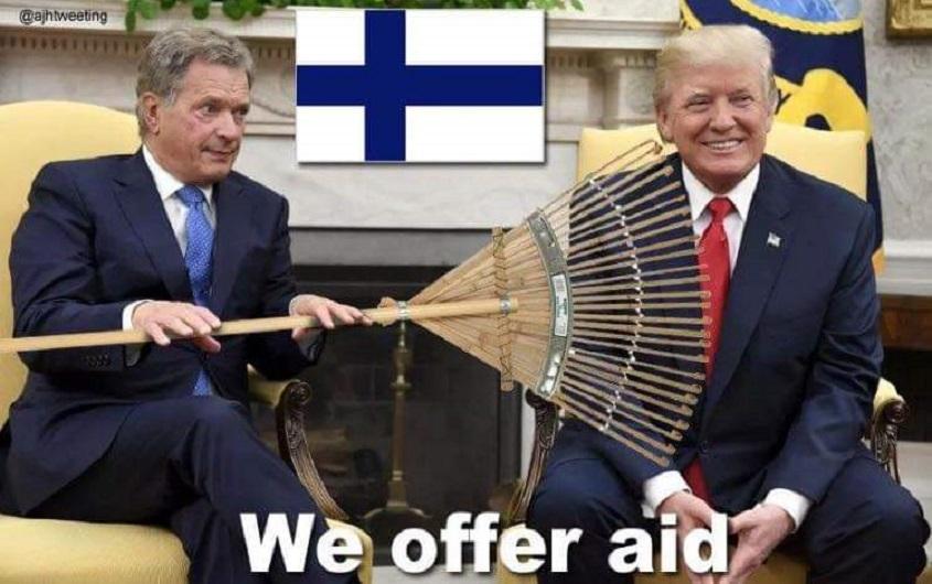 Trump je izvalio kako grabljanje lišća sprječava požare, da tako rade u Finskoj. Finci ga sad jako zezaju