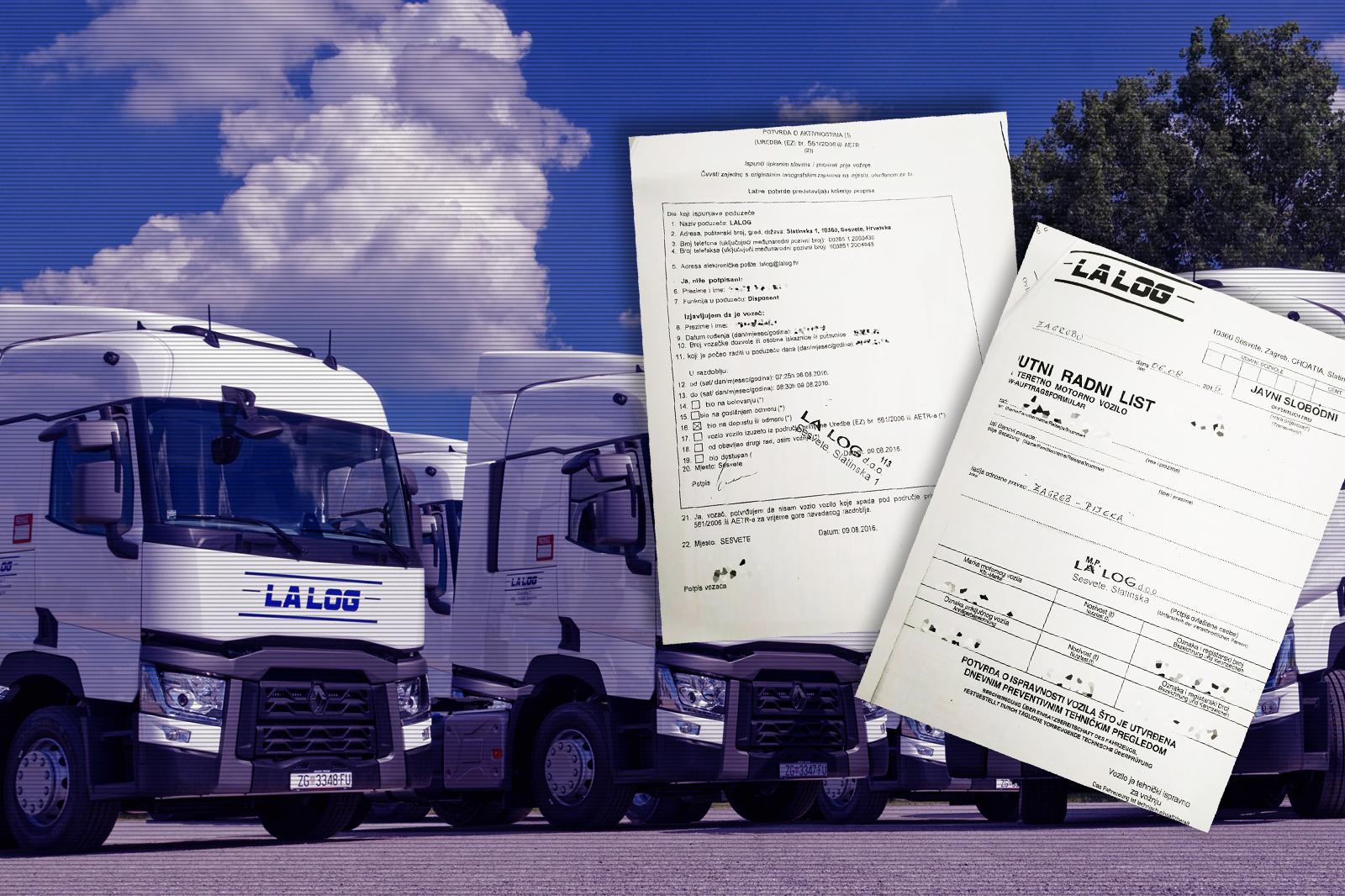Prijevoznička tvrtka vozačima je pisala da su slobodni u vrijeme dok oni još voze; mjesečno su radili i 300 sati