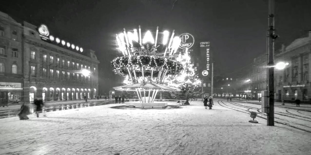 Trg Republike, Božić 1970. godine