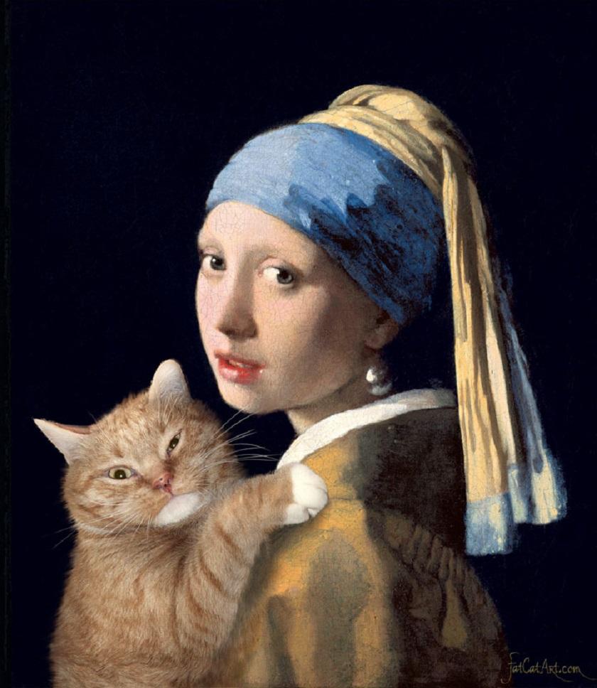 djevojka djevojka maca